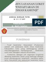 Manajemen Pelayanan Loket Pendaftaran