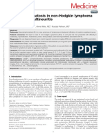 Neurolymphomatosis in Non Hodgkin Lymphoma With.19