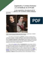 Sofonisba Anguissola y Lavinia Fontana