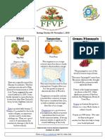 educational sheet  oct 30 nov 1  kiwi tangerine pineapplegrape mix