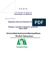 Tesis Anexion a Mexico