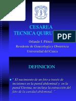 Cesarea Tecnica quirurgica