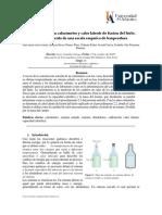 Informe 3 Calibración Del Calorimetro y Calor Latente de Fusión Del Hielo