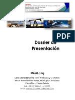 Dossier de Presentacion a Mayo 2019 Completa