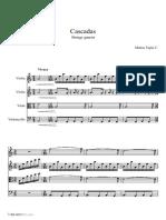 Tapia Mata Cascadas String quartet Parts