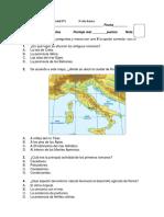 Prueba U3 Historia 3 Roma