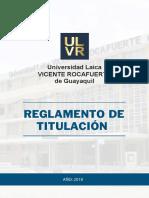 Reglamento Titulación ULVR