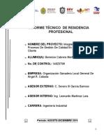 Berenice Informe Técnico de Residencia Profesional