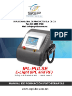 Manual IPL PULSE and E Light Fototerapias