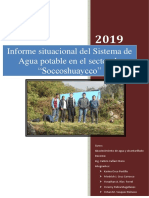Informe Del Diagnostico Situacional Del Sistema de Agua Potable Del Sector de Soccoshuaycco 1