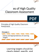 2 Principles of High Quality Classroom Assessment
