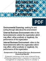 Environmental Forces and Environmental Scanning (1)