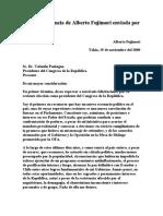 Carta de Renuncia de Alberto Fujimori Enviada Por Fax