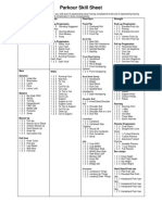 Parkour Skill Sheet