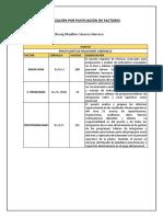 Valorización Por Puntuación de Factores