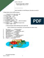 Test de Evaluare Clasa a v a l11