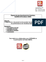 Rapport de Test de l'Emetteur Elenos avec Hitradio et Radio Mars