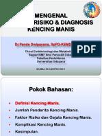 Kersoskes IPD Di Bangli. Mengenal Faktor Risiko Dan Diagnosis DM, 2015