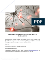 Beginner to Intermediate English Speaker in Six Lessons