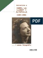 Entrevista a Camil·La Lloret i Altafulla _Desembre de 1926)