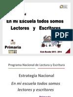 Estrategia Nacional Primaria en Mi Escuela Todos Somos Lectores y Escritores