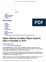 Major Marine Scrubber Player Expects Sales to Double in 2019 - Ship & Bunker