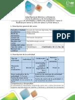 Guía de Actividades y Rúbrica de Evaluación - Tarea 3 - Realizar Pre-tarea 3, Ciclo de Tarea 3 y Post-tarea 3