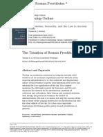 MCGINN 2003 - The Taxation of Roman Prostitutes