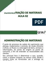Administração de Materiais Aula 02 - Adm19