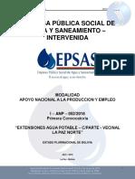 Extensiones Agua Potable – Cparte - Vecinal La Paz Norte
