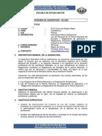 Plan Asignatura Ley de Personal 44 Curso EM