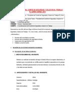 13 Informe Anual Del Comité de Seguridad y Salud en El Trabajo 2013 Cerro Verde