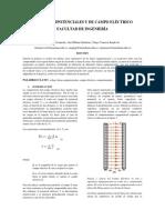 Líneas Equipotenciales y de Campo Eléctrico Informe 3