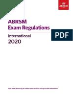 Exam Regulations for 2020 International Version Update 111019