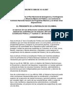 Decreto Nº 3888 de 10-10-2007. Presidencia de La Republica