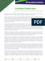 Discurso Alcaldesa Claudia López