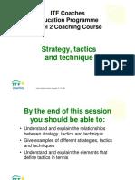 Tennis Strategy,Tacticsand Technique