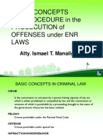 Basic Concepts in Criminal Law