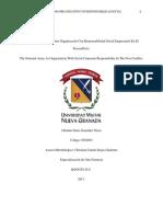 Responsabilidad Social Empresarial en El Ejercito UNIVERSIDAD NUEVA GRANADA