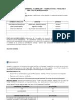Formato Formulación Del Problema Excel Basico