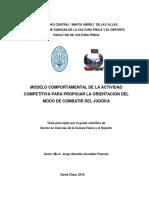 JORGE ABUNDIO GONZÁLEZ PASCUAL. Modelo Comportamental de La Actividad Competitiva Para Propiciar La Orientación Del Modo de Combatir Del