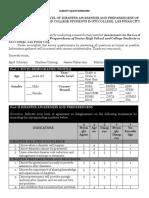 survey questionnaire - disaster awareness and preparedness - sti