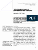 Buchanan [1998] - The Information Audit- Integrated Strategic Approach