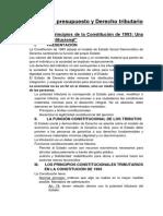 Constitución, Presupuesto y Derecho Tributario