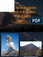 How to Recognize Where a Volcano Will Erupt