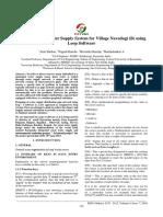 Design of Rural Water Supply System for Village Navadagi (B) using Loop Software