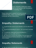 Empathy Statements
