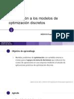 3 - Introducción a los modelos de optimización discretos