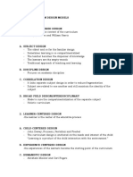 Types of Curriculum Design Models Curdevvvvvvvvvvvvvvvvvvvvvv