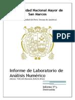 informe de derivacion analisis numerico
